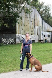 Me and Missy by the Barn