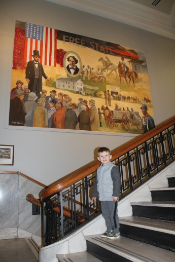Historic Courthouse in Leavenworth- Mural 2