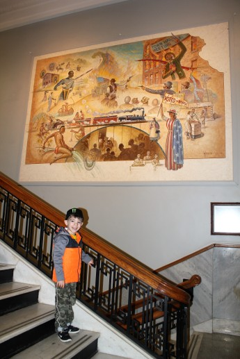 Historic Courthouse in Leavenworth- Mural